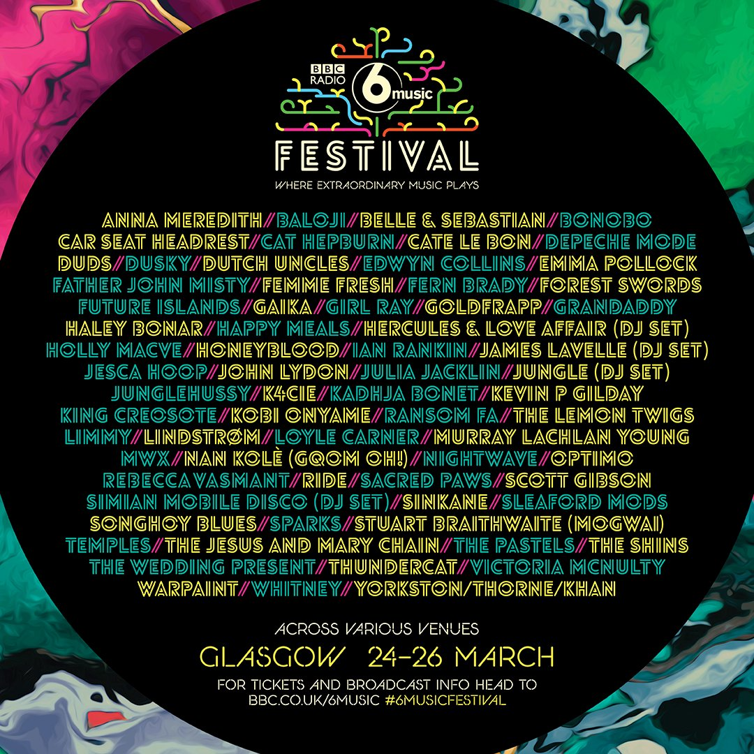 mix it all up bbc 6 music festival 2017 glasgow