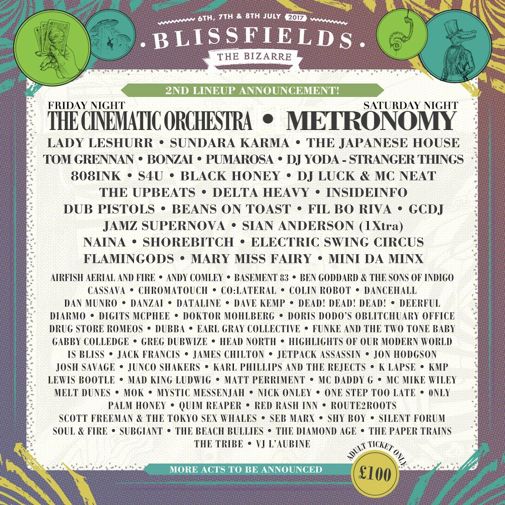 mix it all up blissfields festival lineup