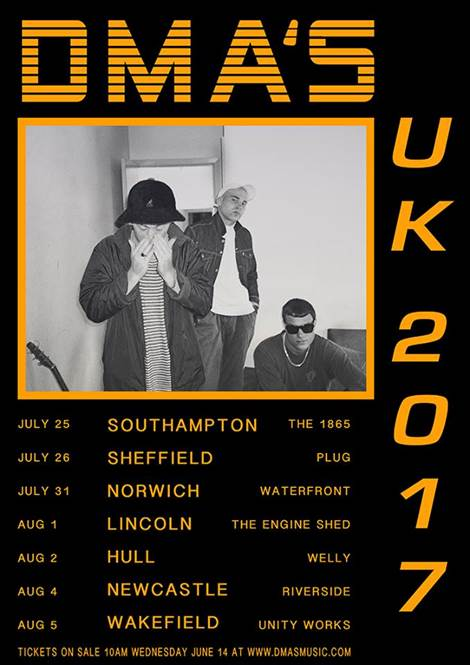 DMA's UK tourdates 2017