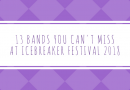 Part 1: 13 bands you cannot miss at Icebreaker Festival 2018!