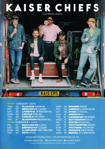 Kaiser Chiefs announced huge UK tour and confirm new album.