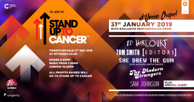 News: Ed Harcourt, Tom Smith (Editors) and more announced for London Stand Up To Cancer gig!