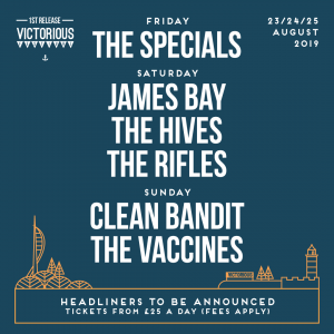 Victorious Festival reveal first lineup announcement for 2019.