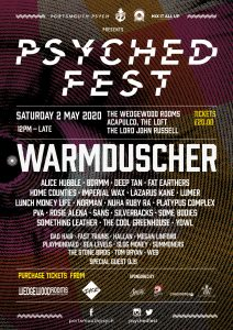 Warmduscher announced as Psyched Fest 2020 headliners!